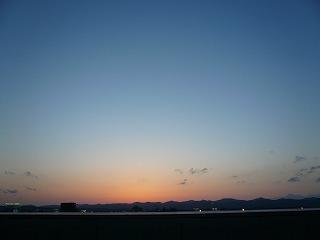 ジャスコ屋上から見る夕景